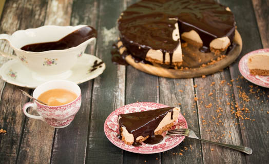Koffie no bake cheesecake
