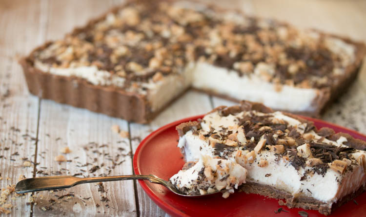 Snickers banaan no bake cheesecake