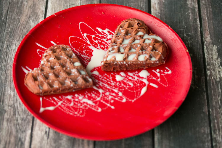 Red velvet wafels